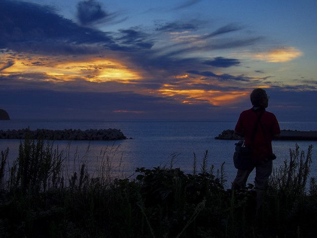 新島の夕暮れ