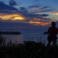 Photos: 新島の夕暮れ