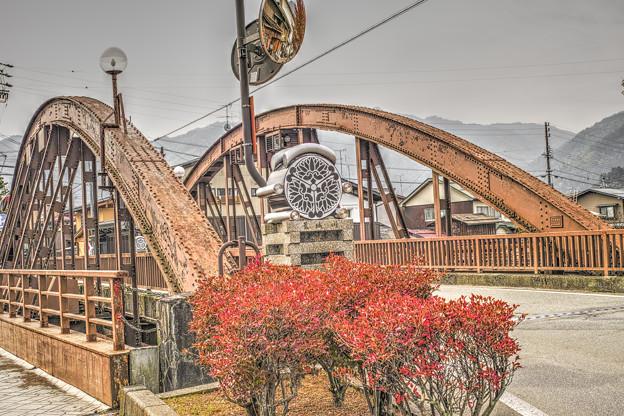 飛騨古川の鉄の橋