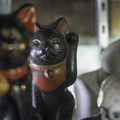 黒光りの招き猫
