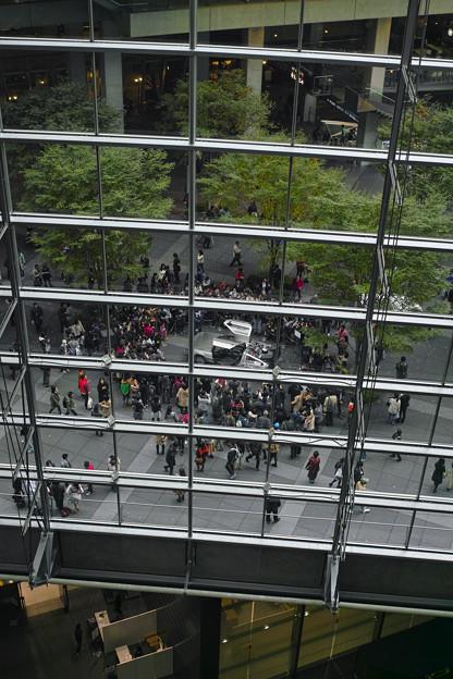 写真: ガラス館の複層的な構造がこのディスプレイには合ってると思った(爆)
