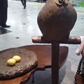 写真: 大分駅です。鶏と卵のブロン...