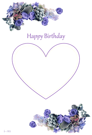 blue bouquet-birthday