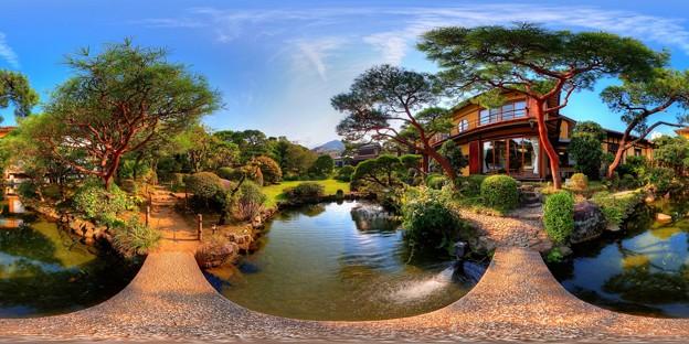 2012年7月29日 熱海 起雲閣 360度パノラマ写真(9) 庭園 HDR