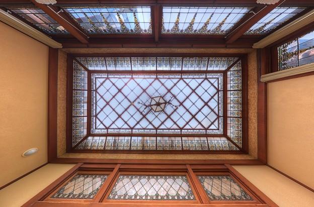 2012年7月29日 熱海 起雲閣  玉姫 天井のステンドグラス HDR