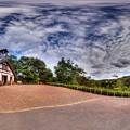 2012年8月28日 犬山市 明治村 五丁目  大明寺聖パウロ教会堂前 360度パノラマ写真 HDR