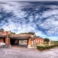 2012年8月28日 犬山市 明治村   旧帝国ホテル玄関 360度パノラマ写真 HDR