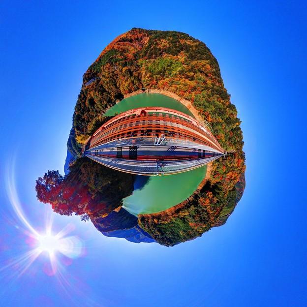 Photos: 2012年 11月20日 大井川鉄道井川線 奥大井レインボーブリッジ Little planet