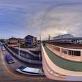 360度パノラマ写真  清水区草薙・熊野歩道橋からの眺め HDR