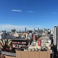 渋谷ヒカリエから見る新宿方面の風景 魚眼レンズ使用 (1)