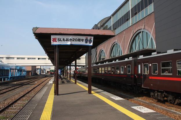 真岡駅2番線・3番線ホーム