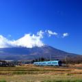 富士山電車(あさぎりバージョン)