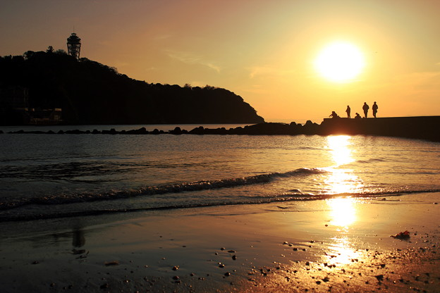 Photos: 江ノ島の夕照