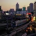 写真: 夕刻電車(京浜東北線バージョン)