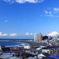 富士の見える街
