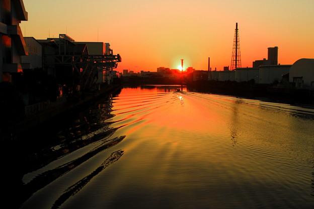 運河の夕暮れ