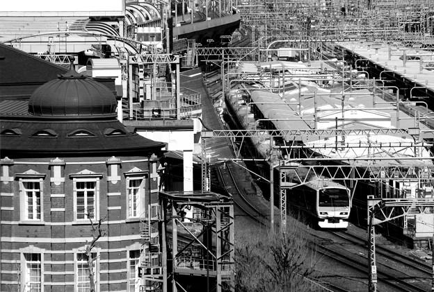 東京駅俯瞰。