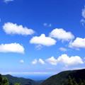写真: 山と海と空と。