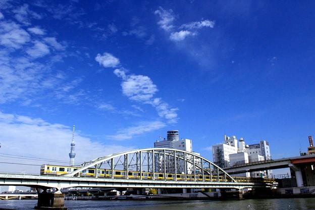 写真: スカツリ VS 総武線 2017