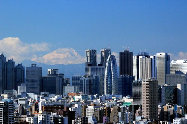 写真: 摩天楼富士