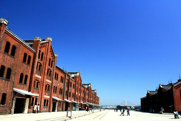 Red Brick In Blue