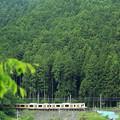 写真: 山間電車