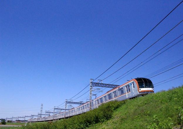 写真: 青空もぐら電車