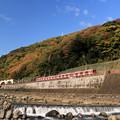 写真: 秋の登山電車
