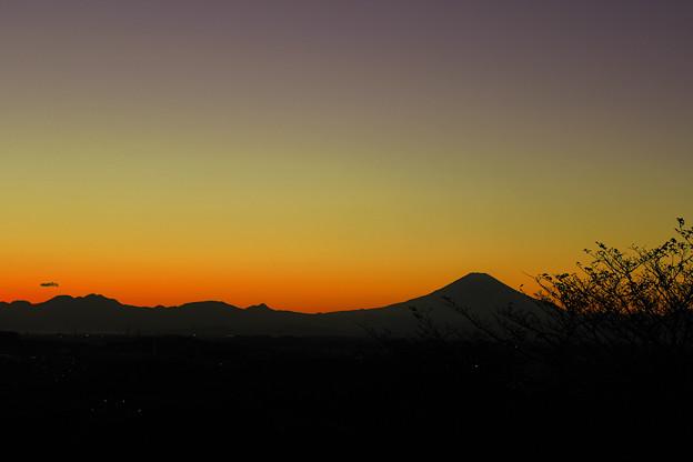 Photos: シルエット富士