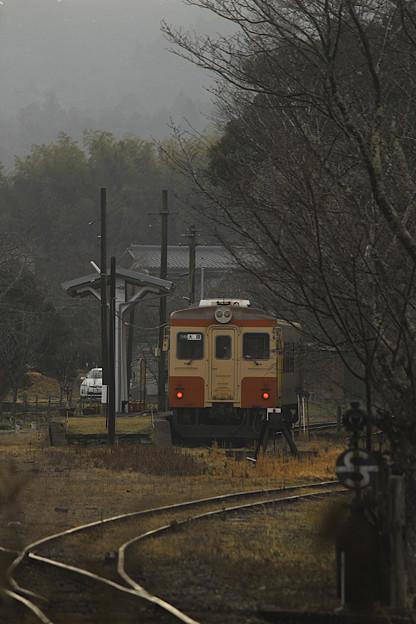 山中の終着駅