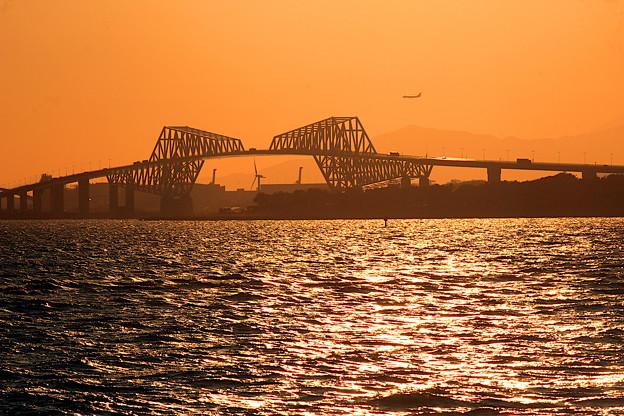 夕暮れ恐竜橋