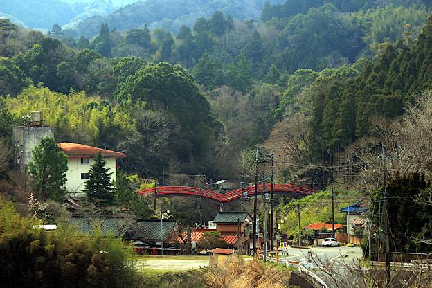 山間の温泉郷