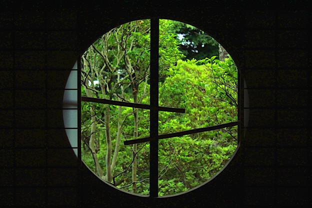 真夏の丸窓