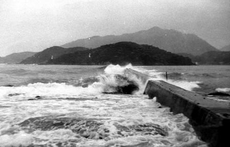 古い土々呂 防波堤