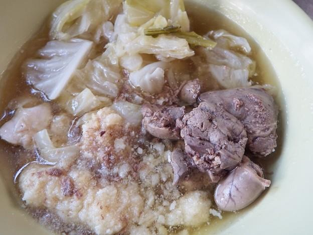 DSCF5239 キャベツ鶏レバー水煮 おから