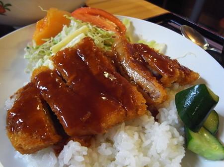 和可山食堂 ソースカツ丼 汁付き アップ