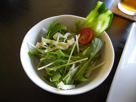 Tiki グリーンカレーつけ麺(夏季限定)ランチセットA サラダ