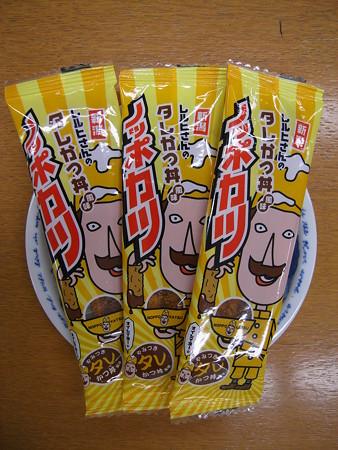 新潟限定 レルヒさんのタレかつ丼風味 ノッポカツ パッケージ