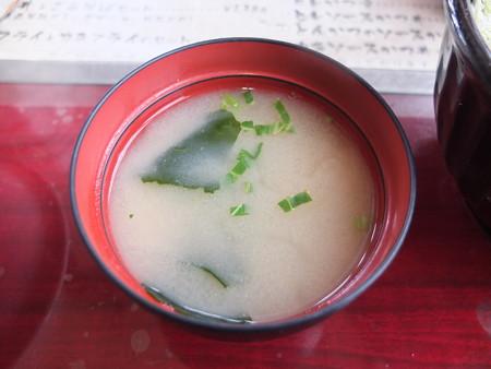 銭形 高田分店 とんかつのソースカツどん 味噌汁