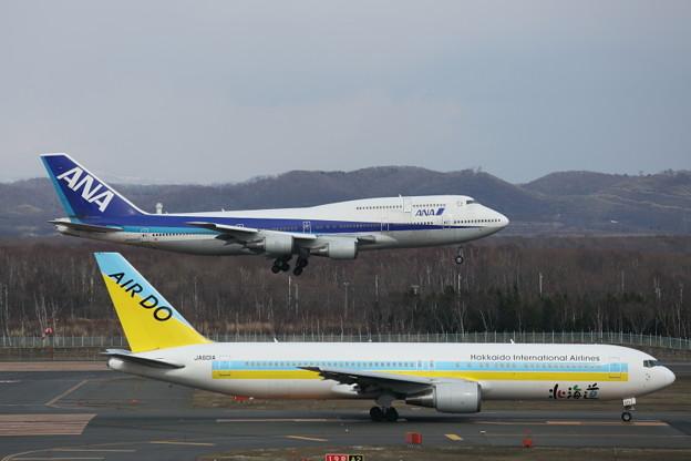 離陸機と着陸機