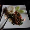 Photos: 豚肉の辛味煮に白ごはん