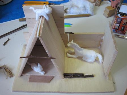 馬と猫の小屋