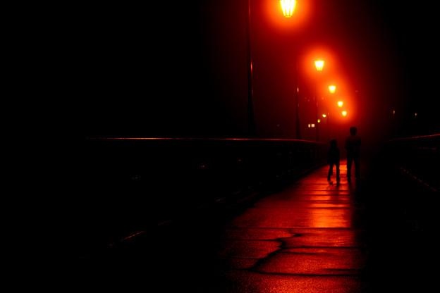 DSC_0074 町並夜景こけし橋と息子たち