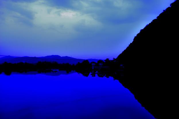Morning view白石川朝景 全景