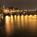パリの川沿い