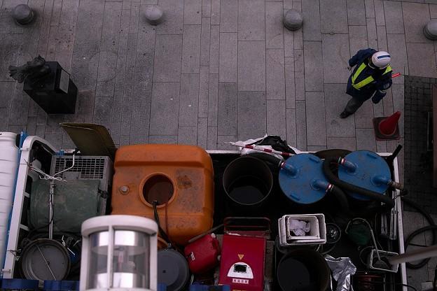 除染車両の荷台