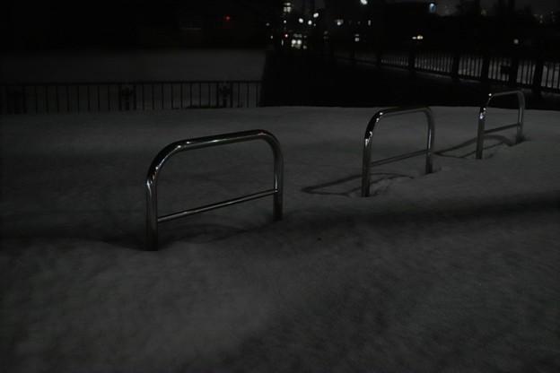 道路脇の雪