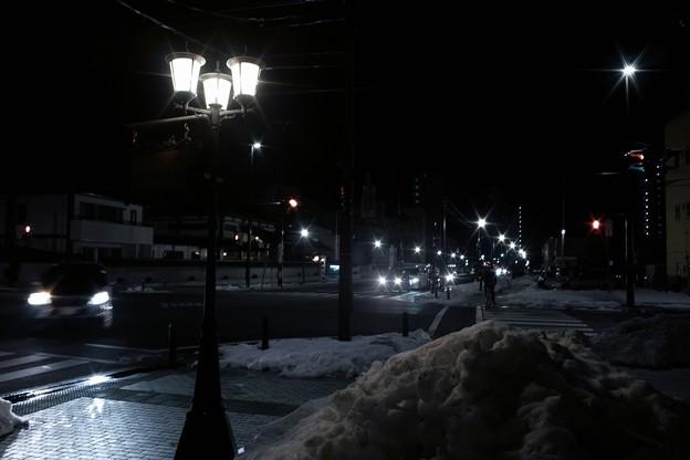 2月最後の夜の街角