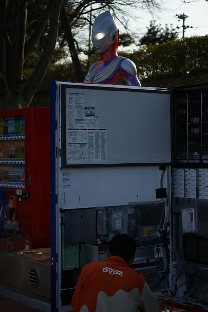 ウルトラマンティガ自動販売機