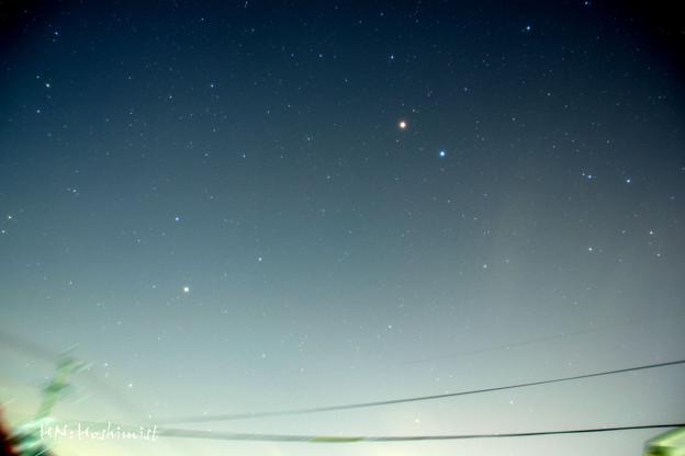 おとめ座てんびん座を彩る火星と土星(IMG_2420)